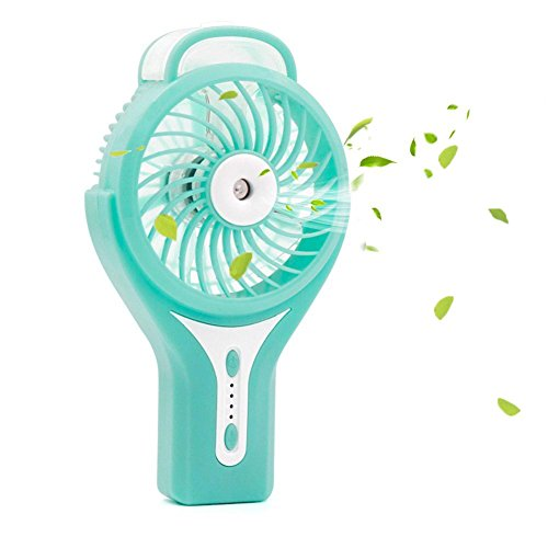 - TianNorth Misting Fan Mini USB Handheld Humidifier Mist Water Spray Air Condictioning Moisturizing Fan Portable Face Spray Mist Humidifier (Blue)