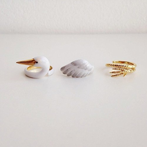 Mary Lou Crane Trio Ring Set