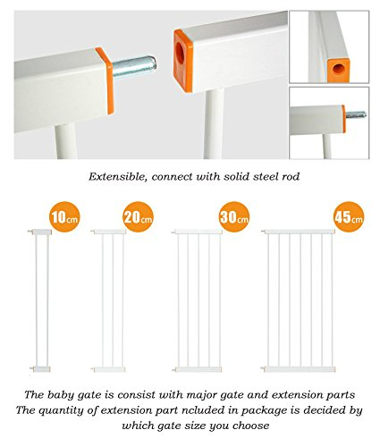 Fairy Baby Easy Install Extra Tall & Wide Walk Thru Gate,39.4'' High,Fit Spaces between 64.96'' to 68.50'' Wide by Fairy Baby (Image #4)