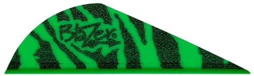 Vanes Blazer Bohning 2 (Bohning Blazer Tiger Archery Vane (100-Pack), Green)