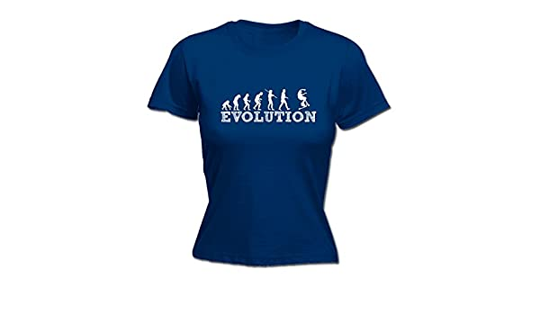 123t Slogans Mujer Evolution LITTLE - Patinete camiseta ...