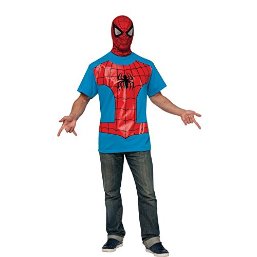 Rubie's Costume Men's Marvel Universe Spider-man Adult Costume T-shirt and Eye Mask, Multi, Medium