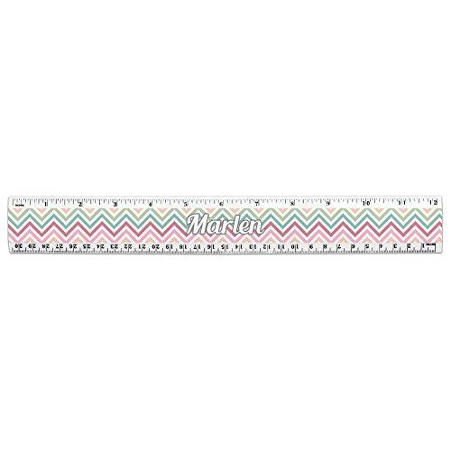 I Love Heart Names Female M Mari 12 Inch Standard and Metric Plastic Ruler - Marlen