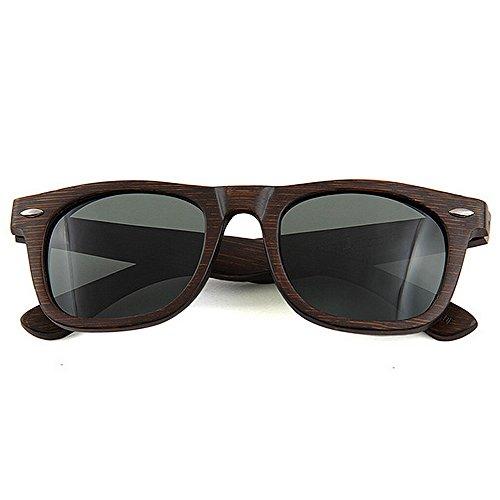 los vendimia de polarizada sol de hechos calidad alta Retro Gafas playa TAC bambú Protección sol hombres mano a Lens oscura gafas de vacaciones pesca Marrón conducción UV la Gafas de d de libre al de de aire TOEWxYXqwx