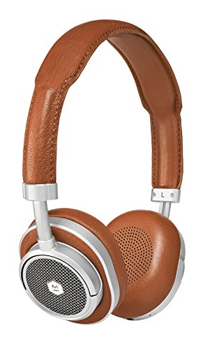Master Dynamic MW50 Wireless Bluetooth Headphones with 40mm Beryllium Driver for Superior Sound, Interchangeable 2-in-1 Design, Converts from Over-Ear Headphones to On-Ear Headphones, Silver Brown