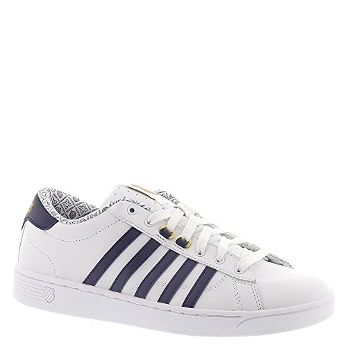 Zapato femenino Hoke CMF, blanco / azul marino / monograma - 11