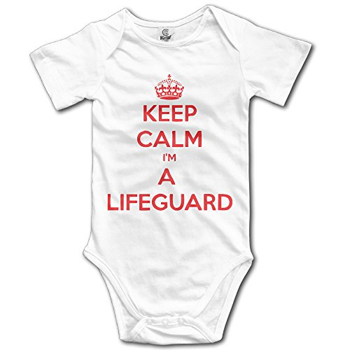 Keep Calm I Am A Lifeguard Boys Baby Onesies Romper