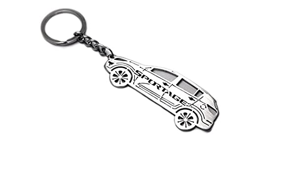 Handmade Laser Cut Gift Range Rover Badge Leather Keyring