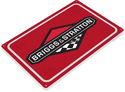 Tinworld TIN Sign C252 Briggs & Stratton Engine Garage Auto Shop Store Sign ()