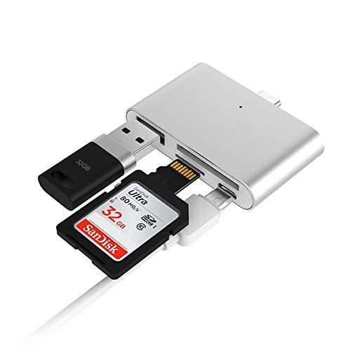 USB3.1 Micro SD/TF Flash Memory Type C Card Reader OTG HUB