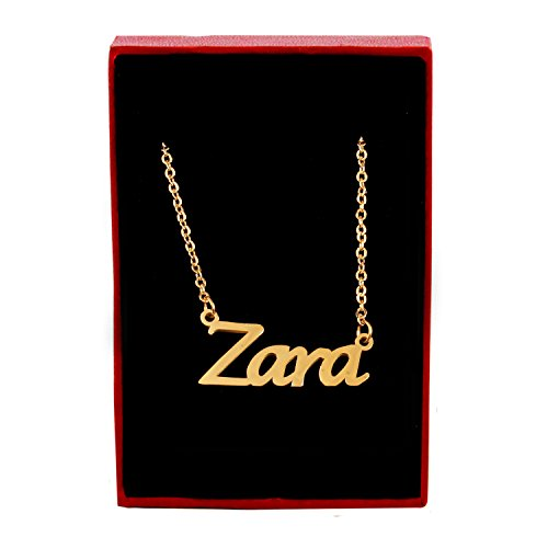 Zara Name Necklace - 18ct Gold Plated for sale  Delivered anywhere in USA