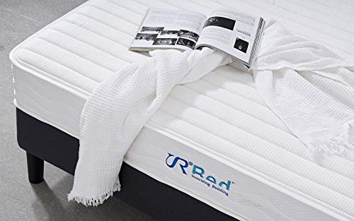 Sunrising Bedding 8 inch Natural Latex Hybrid Queen Mattress - Premium Support Pocket Coil Innerspring - Firm & Sleep Cooling - Non Toxic Organic Mattresses - 120 Day Free Return - 20 Year Warranty