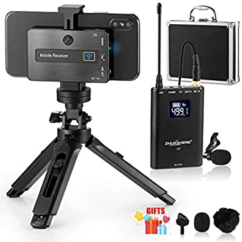 wireless lavalier microphone for iphone android phone dslr camera mobile. Black Bedroom Furniture Sets. Home Design Ideas