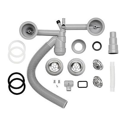 Ikea Atlant Strainer Water Trap F Dbl Bowl Sink Amazon Co Uk