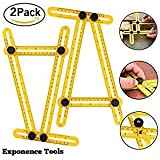 Construction Multi Angle Measuring Ruler 2 Pack Angleizer Template Tool For Craftsmen Builders Carpenters Woodworking By Exponence