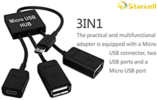 PRO OTG Power Cable Works for Karbonn Aura Note Play with Power Connect to Any Compatible USB Accessory with MicroUSB