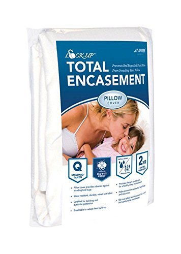 JT Eaton 82STQUPIL Lock-Up Total Encasement Bed Bug Protection for Standard or Queen Size Pillow Cover