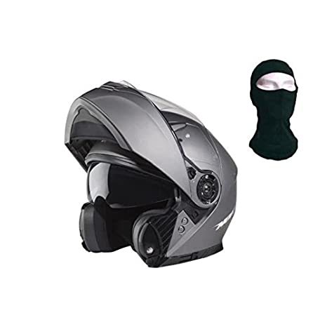 e5c0fa90 NOX Helmet Modular, Titanium, Medium: Amazon.co.uk: Car & Motorbike