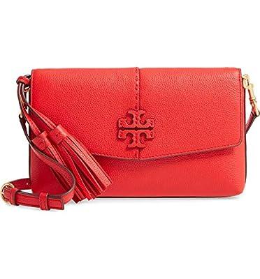 Tory Burch Women's Brilliant Red Mcgraw Crossbody Handbag
