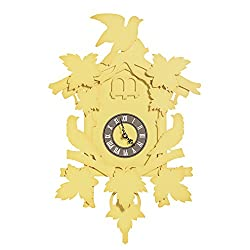 FunDeco Cuckoo Clock, Canary, Large