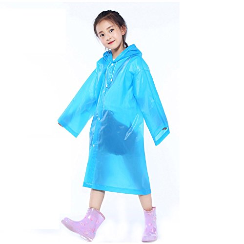 Yinpinxinmao Children Raincoat Poncho Kids Waterproof Hooded Rainwear Cape