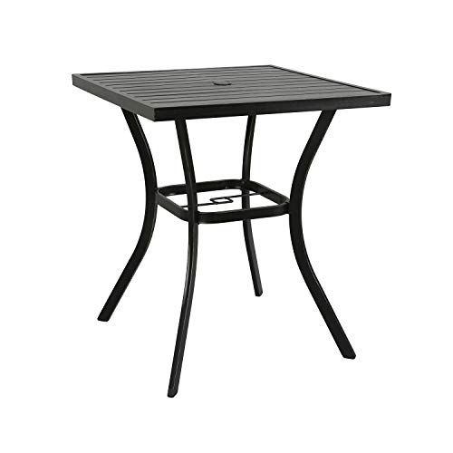 (Ulax furniture Outdoor Patio Bar Table Counter Height Table)
