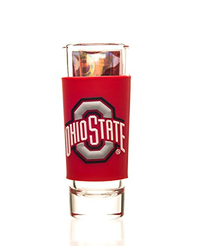 OHIO STATE BUCKEYES 2oz. NCAA PVC WRAP SHOTGLASS