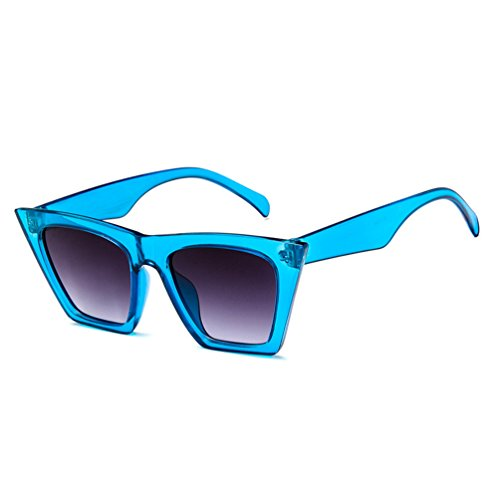 Unisexo Personalidad Gafas Ketamyy Sol Salvaje Azul Gato Polarizadas Transparente Gafas De Colorido Ojo De Zg5qC