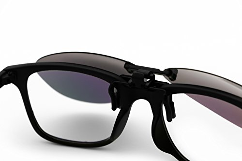 clip sol lentes Running Flip gafas plata Up de Deporte gris hombre de sol UV400 negro gafas polarizadas en dfAxqU