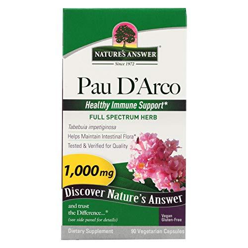 2 Pack of Nature's Answer PAU D'Arco Inner Bark - 90 Vegetarian Capsules Vegan