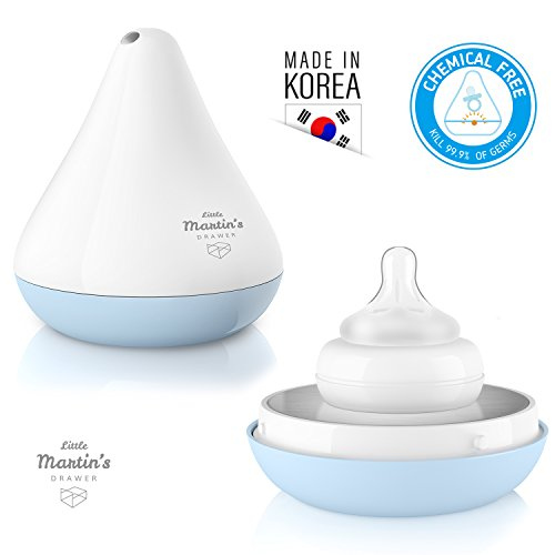 Little Martin's Teat Sterilizer – Portable UV Sterilizer 99.9% Disinfection of Bacteria & Germs for Bottle Nipple, Pacifier, Baby Soother –Storage Case, Battery Operated, Safe for Infants (Blue) by Little Martin's Drawer (Image #6)