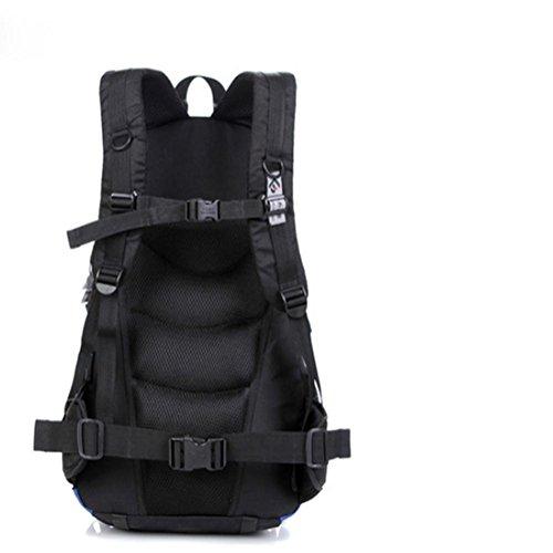 Hombre señoras 20-35L al aire libre impermeable viaje alpinismo hombro bolsa , Green Dark Blue