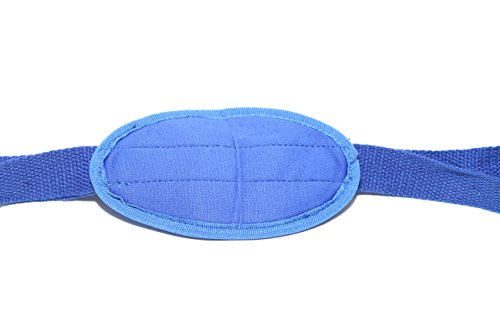 Exercise Stretching Strap with Foot Pad (Royal Blue, One Size)