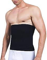 SLIMBELLE® Heren Elastische Taille Trimmer Riem Afslanken Clincher Gordel Gewichtsverlies Body Shaper Tummy Control Shapewear Band Zwart & Wit