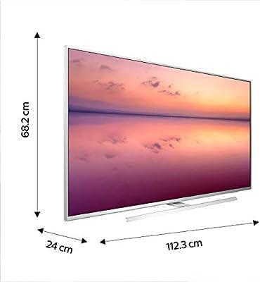 Philips 50PUS6814, Smart TV Alexa Ultra HD (Ambilight 3 Lados, HDR 10+, Dolby Vision + Atmos, 1200 PPI, Sintonizador Satélite, Peana Central Giratoria), Wireless/HDMI/USB, 50