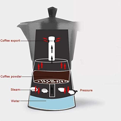 Machine à café, 150-200Ml Machine à café automatique portable électrique Cafetière en acier inoxydable Espresso Mocha Pot Café Accueil Cuisine Outils for Bureau KNDTA