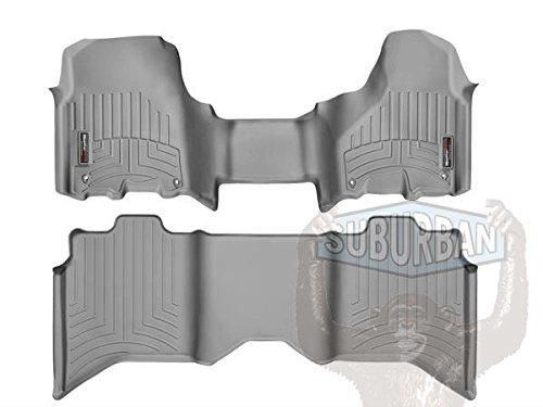 - WeatherTech (464771-462163 Over The Hump FloorLiner, Front/Rear, Gray
