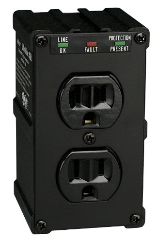 Tripp Lite Isobar 2 Outlet Surge Protector Power Strip, Direct Plug In, Black, Metal, Lifetime Limited Warranty & $10,000 INSURANCE (ULTRABLOK)