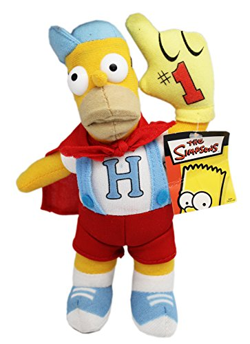 The Simpsons' Homer Simpson Cape and Overalls Superhero Plush Toy (9in)