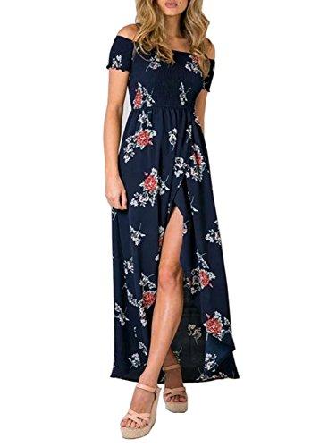 floral asymmetrical maxi dress - 8