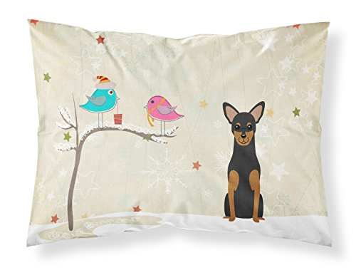 Caroline's Treasures BB2500PILLOWCASE Between Friends Manchester Terrier Fabric Pillowcase, Standard, Multicolor