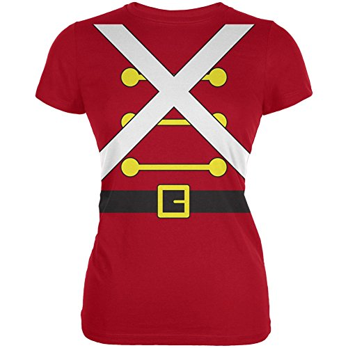 Christmas Toy Soldier Costume Red Juniors Soft T-Shirt - Large (Christmas Toy Soldier)