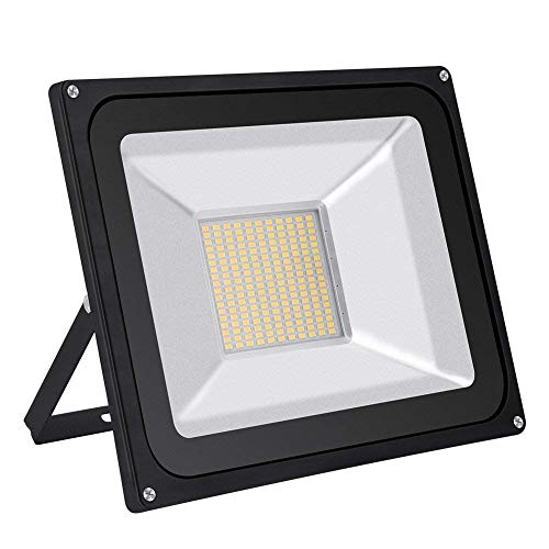 GZNIGHT Outdoor Led Flood Light, Super Bright 100watt Indoor Led Night Light Fixture, Waterproof IP65, Warm White Security Light for Garden, Yard, Warehouse, Square, Billboard, Factory