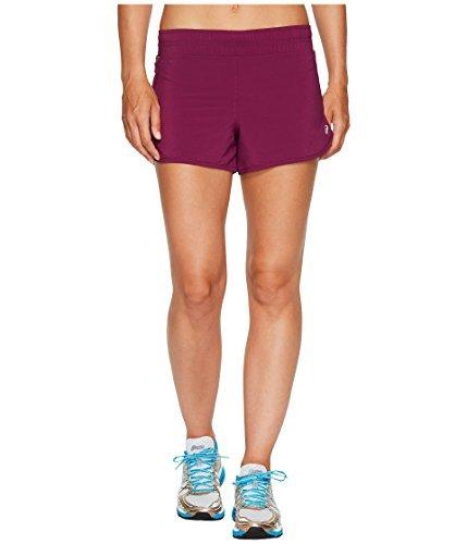 (ASICS Women's Distance Shorts, Prune, Large)