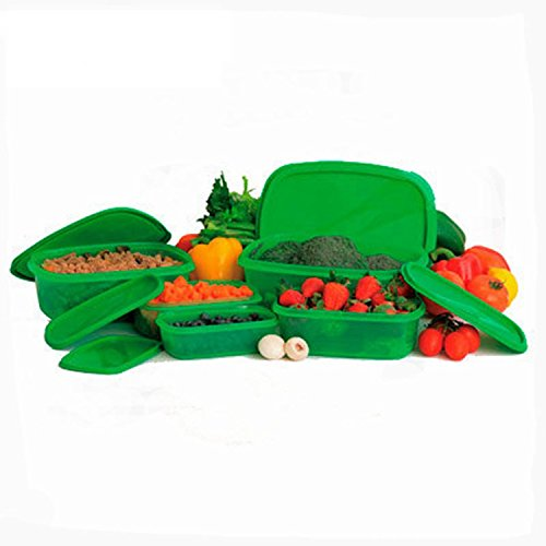 Stay Green Food Container 10 Sets Plastic Sealed Crisper Box Home Kitchen Gadgets Items Accessories Supplies Products