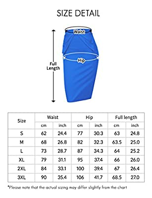 Regna X Love Coated Women's Slim fit Elastic Waist Band Stretchy Pencil Skirt(Plus size available, 10 Colors)