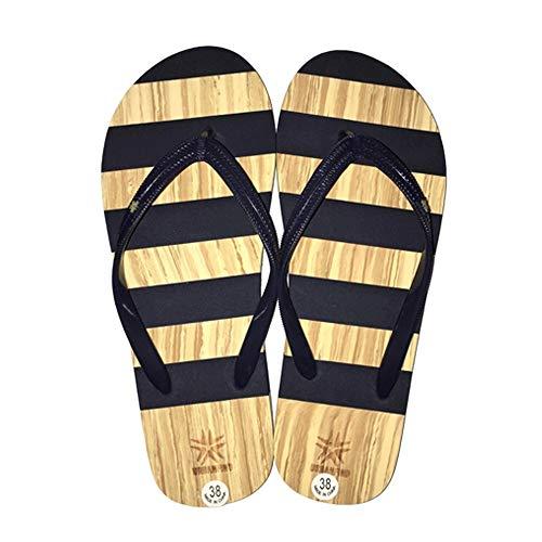 - URBANFIND Women's Flip Flops EVA Yoga Mat Thong Sandals Stripe Shower Beach Slippers Red, 7 B(M) US