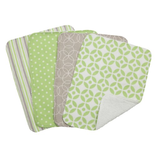 Trend Lab Lauren Burp Cloth Set, Green, 4 Count ()