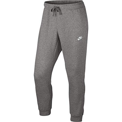 (Men's Nike Sportswear Club Jogger Sweatpant, Fleece Joggers for Men with Pockets, Dark Grey Heather/White, M)