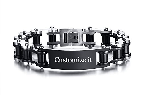 XUANPAI Custom Personalized Masculine Stainless Steel Motorcycle Biker Chain Link ()